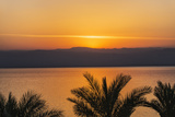 Jordan  Dead Sea Sunset over the Dead Sea with the Mountains of Israel Beyond