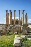 Jordan  Jerash the Ruins of the Sacred Temple of Artemis in the Ancient Roman City of Jerash
