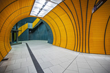 The Exit of the Odeanspaltz U-Bahn Station in Altstadt - Lehel  Munich  Bavaria  Germany