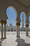 Internal View of the Arcade of the Sheikh Zayed Mosque  Al Maqta District of Abu Dhabi  Abu Dhabi