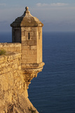 Lookout Tower of Santa Barbara Castel Overlooking the Bay of Alicante  Costa Brava  Alicante