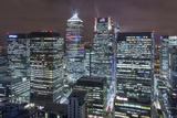 The New London Financial District in the Docklands at Night