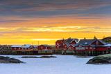 Europe  Scandinavia  Norway  Lofoten Islands  Moskenesoy  Moskenes  Sunset