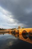 Turkey  Thrace  Edirne  Tunca Koprosu Stone Arched Bridge