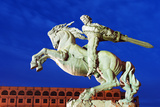 Eurasia  Caucasus Region  Armenia  Yerevan  Train Station Square  Statue of Sasuntsi David