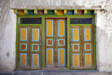 Nepal  Mustang  Lo Manthang Brightly Painted Doors in the Ancient Capital of Lo Manthang
