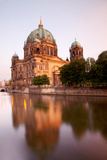Germany  Berlin the Cathedral Reflected in the Waters of Spree River