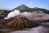 Indonesia  Java  Bromo a Stunning Volcanic Landscape from Mount Penanjakan at Sunrise