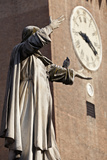 The Statue of Savonarola Outside the Castello Estense Ferrara Emilia-Romagna Italy