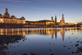 The Panorama of Dresden in Saxony with the River Elbe in the Foreground