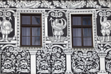 Czech Republic  Moravia  Trebic Painted Facade in the Historic Centre