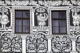 Czech Republic  Moravia  Trebic Painted Facade in the Historic Centre