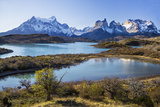 Chile  Torres Del Paine  Magallanes Province  Torres Del Paine National Park and Paine Massif