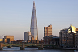 View across the Thames of the Shard  London Bridge Tower  Se1  London