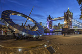 The Tower Bridge in London Seen from the East at Dusk  London  England