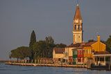 The Campanile Di Mazzorbo at Sunset on Isola Mazzorbo  Vencie  Veneto  Italy