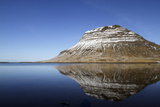 The Mountain of Kirkjufell Reflected in the Waters of Halsvadali  Snaefellsnes Peninsula  Iceland