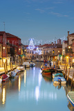 Europe  Italy  Veneto  Venice  Murano  Christmas Decoration on a Canal