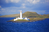 Uk  Scotland  Inner Hebrides  Isle of Mull a Lighthouse Guards the Entrance to the Island