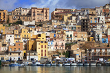 Italy  Sicily  Sciacca the Port with the Houses in the Historic Centre