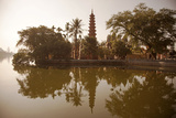 Vietnam  Ha Noi  West Lake the Ancient Tran Quoc Pagoda Sits Surrounded by Vegetation