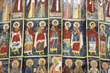 Romania  Bucovina  Sucevita Wall Painting in Sucevita Monastery