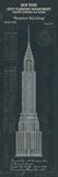 Chrysler Building Plan Giclée par The Vintage Collection