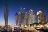 Dubai Marina at Twilight with the Cayan Tower (Infinity Tower)
