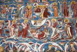 Romania  Moldavia  Moldovita a Wall Painting at Moldovita Monastery