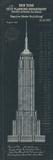 Empire State Building Plan Giclée par The Vintage Collection