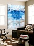 Bleu gris Toile Murale Géante par Julie Weaverling