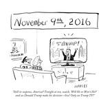"""Still in suspense  America Tonight at ten  watch  'Will He or Won't He'…"" - Cartoon"