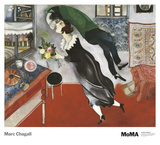 Anniversaire Reproduction d'art par Marc Chagall