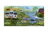 Golf Club Folk Art Cheryl Bartley