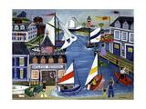 Sailing School Folk Art Cheryl Bartley