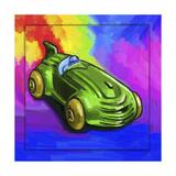 Pop-Art Deco Race Car Toy