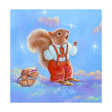 Mice  Squirrel and Bunny family in Clouds I