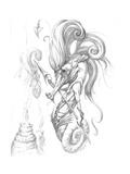 Aquatic Seahorse Warrior Pencil
