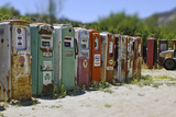 Vintage Gas Pumps Tilt