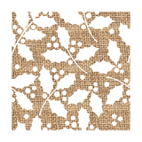 White Holly Branches Burlap