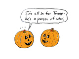 """I'm all in for Trump—he's a person of color"" - Cartoon"