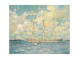 A French Barque in Falmouth Bay  1902
