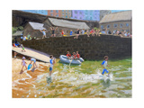 """Detail of """"The Dinghy  Tenby """" 2016"""