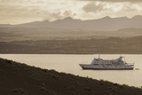 A Passenger Expedition Ship Cruises the Galapagos Islands