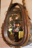 A Western-Themed Mirror Reflects Patrons at a Restaurant in Sun Valley