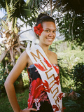 Miss Hiva Oa  Models Traditional Clothing in the Marquesas Islands