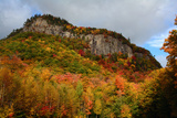 Scenic View of Fall Foliage and Exposed Rock on a Hillside in the White Mountains
