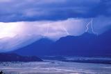 Lightning Striking over the Grand Teton National Park