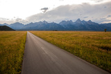 A Road Leading Toward the Grand Teton National Park