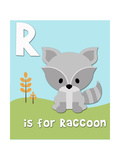 Woodland Raccoon Letter
